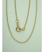 """Gold-Filled Flat Curb Chain 18"""" 1.3mm  - $24.95"""
