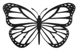 Butterfly Wall Art Hanger (Set of 3) Black - $19.97