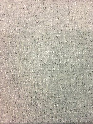 Heather Wool Upholstery Fabric Soft Gray Woven Melange 6.25 yards CR