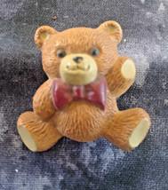 VINTAGE ESTATE SIGNED HALLMARK CARDS TEDDY BEAR BROOCH - $3.00