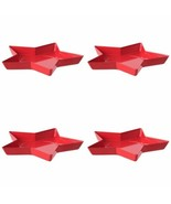 IKEA Vinterfest Candle Dish Star Red -Set Of 4 - €16,07 EUR