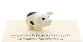 Hagen-Renaker Miniature Ceramic Pig Figurine Spotted Piglets Standing Set of 2 image 3
