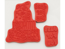 Crafter's Companion Strawberry Kisses Just for You Rubber Cling Stamp Set image 2