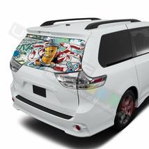 Sticker Bomb Skin Window See Thru Stickers Perforated for Toyota Sienna 2017  - $57.00