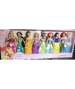 Disney Princess Nine Doll Set Ariel Jasmine Merida Belle Aurora Tiana Ci... - $110.00