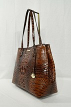 NWT Brahmin Medium Julian Embossed Leather Tote/Shoulder Bag in Pecan Me... - $279.00