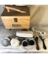 Ronson Roto Shine Electric Shoe Polisher in Original Wood Box - $62.36