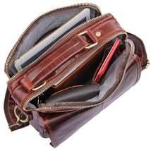 Sale, Men's Leather Satchel Bag, Messenger Bag, Leather Messenger, Shoulder Bag image 4