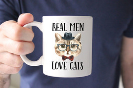 Awesome Mug - Real Men Love Cats Mug Cat Mug Funny Mug Cat Dad Cat Owner - $10.99+