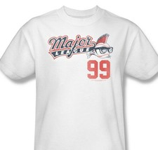 Major League T-shirt Charlie Sheen retro 1990s movie white graphic tee PAR449 image 1