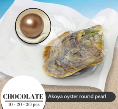 Pearl Oyster  CHOCOLATE  Akoya Vacuum Packed 6-7mm 10 / 20 / 30 pcs - $32.36+