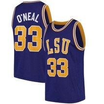 Shaquille O'Neal #33 College Custom Basketball Jersey Sewn Purple Any Size image 3