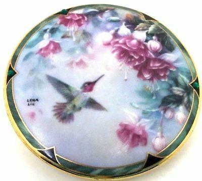 ARDLEIGH ELLIOTT Porcelain ANNA HUMMINGBIRD Beethoven Fur Elise Music Box 3 x 2
