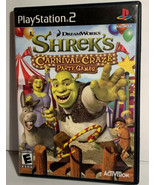 Shrek's Carnival Craze Party Games Sony PlayStation 2 PS2 Free Shipping - $13.99