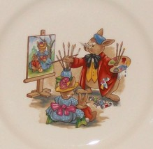 "Royal Doulton Bunnykins- 8"" Child Dinner Plate -Portrait Painter Design ... - $5.65"