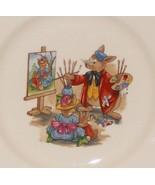 "Royal Doulton Bunnykins- 8"" Child Dinner Plate -Portrait Painter Design ... - $5.65"
