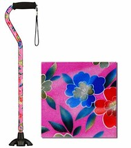 NOVA Sugarcane, Walking Cane with Quad Tip and Carrying Strap, Stand Alone Cane,