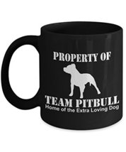 Pitbull Coffee Mug - Dog Lover Ceramic Travel Cup - Team Pit Gift 11oz 15oz - $14.95+