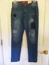Arizona Jeand Girls Distressed Adjustable Waist Skinny Jeans, Size 16 Reg,  NEW - $16.78