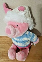 Disney Store Exclusive Sweater PIGLET Plush White Knit Cap Snowflakes  - $1.99