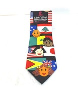 St. Jude Childrens Hospital Mens Silk Tie Necktie Blue Multi-color  - $9.87