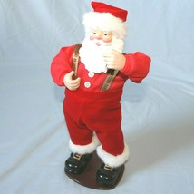 Vintage Jingle Bell Rock Santa Animated Dancing Musical Santa 1998 - $29.65