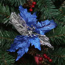 Christmas Flower Xmas Tree Decoration Glitter Sequin Hollow Wedding Part... - $1.65