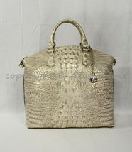 Brahmin Large Duxbury Leather Satchel/Shoulder Bag Sugar Cane Melbourne image 4