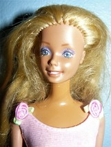 Mattel 1970s Twist N turn Blond Barbie doll in pink dress and shoes - $7.90