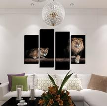 Lions Modern Print 4 Piece Canvas Art Wall Art Picture Home Decor - $29.90+