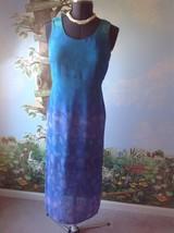 Donna Ricco Petite  Women Dress Sleeveless Blue Dress Size 8P - $19.79