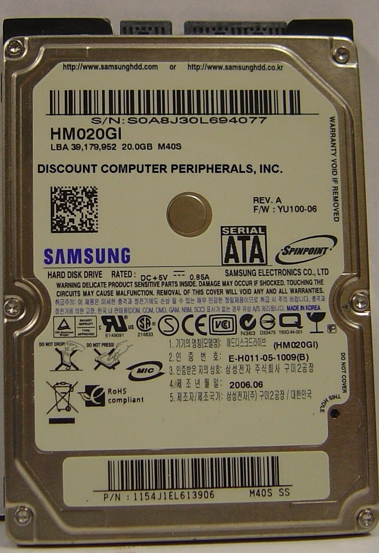 NEW HM020GI Samsung 20GB SATA 2.5in 9.5mm Hard Drive Free USA Ship