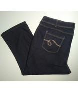Lee Riders Womens Stretch Jeans Size 26W Petite Dark Wash Bootcut Jeans EUC - $19.79