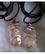 Gemstone Crystal Wire Wrapped One Handcrafted Necklace Custom Made Adjustable    - £20.23 GBP
