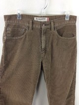 Levis 505 Regular Fit Brown Tan Corduroy Pants Mens 32 X 32 - $18.69