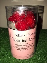 New Set Of 10 Valentine's Day Red Rose Lights LED Battery Operated - $16.82