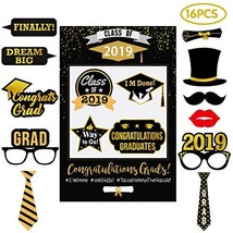 Graduation Party Supplies 2019 - Selfie Photo Booth Picture Frame & Prop... - $12.19