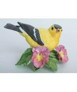 The Lenox Garden Bird Collection American Goldfinch Fine Porcelain Figur... - $37.61