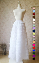 WHITE Long Tulle Skirt White Layered Tulle Skirt White Wedding Skirt image 6