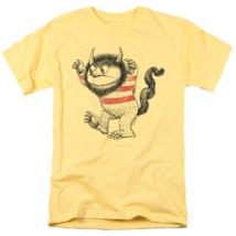 Where Wild Things Are T-shirt retro children book movie cotton yellow tee image 2