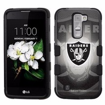 for LG Treasure / Escape 3 Armor Impact Hybrid Cover Case Oakland Raider... - $18.65