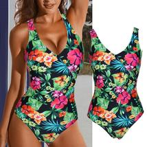 Womens One Piece Monokini Swimsuit Swimwear Beachwear Push Up Bathing Bikini image 11