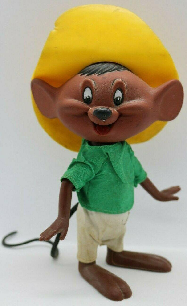 "Vintage 1968 Speedy Gonzales Dakin Looney Tunes 7.5"" Rubber Figure Hong Kong - $24.18"