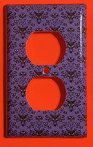 Haunted Mansion purple wallpaper Light Switch Outlet wall Cover Plate Home Decor image 8