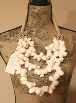 """NEW! SHELL 3 TIER Garland/NECKLACE 16"""" HANDMADE NWT - $23.71"""