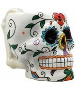 Ebros Tribal Day of The Dead Love Lock Sugar Skull Drink Coffee Mug Cup ... - $21.99