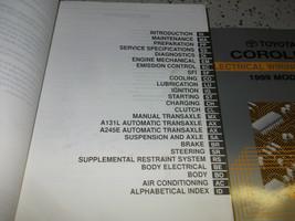 1999 Toyota Corolla Service Reparatur Shop Manuell W Ewd + Transaxle Buch + AC image 2