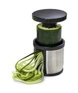 Hand Held Spiralizer Vegetable Slicer Veggie Spiral Cutter Free Recipes ... - $22.47