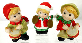 Homco Christmas Musical Trio Drummer Boys Cymbal Girl Figurines #5106 ~ 3 - $23.33