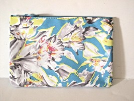IPSY March 2015 Floral Fantasy Makeup Bag Blue Water Cosmetic Case - $5.15